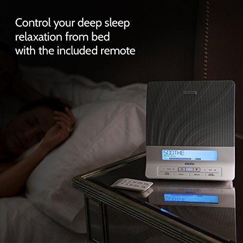 HoMedics Sleep Therapy Machine   Noise Device, Remote, Dimmer, Dual Speakers   12 Soothing 8 Sleep Therapy Programs