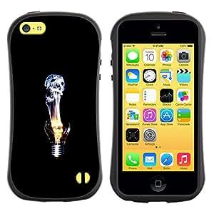 Fuerte Suave TPU GEL Caso Carcasa de Protección Funda para Apple Iphone 5C / Business Style Idea Deep Emo Black Dark