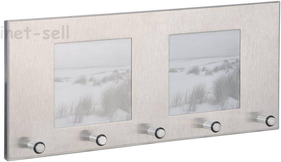 Edelstahl Zeller 13885 Schl/üsselbord mit Fotorahmen ca 29 x 3,8 x 13 cm