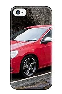 New Premium Flip Case Cover 2011 Volvo V60 R-design Skin Case For Iphone 4/4s
