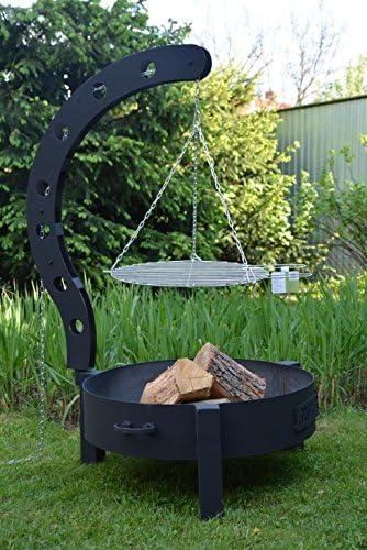 123home24.com Brasero con parrilla 130 x 80 cm, multifunción Fire Pit para calefacción/BBQ, Jardín Terraza hoguera, metal cesta: Amazon.es: Jardín