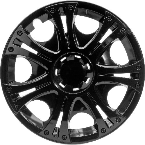 "Albrecht 49215 Aruba Gloss Black Plus 15"" Wheel Cover, (Set of 4)"