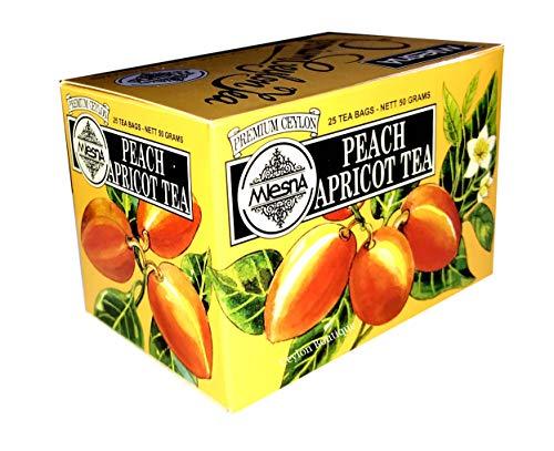 - Mlesna Peach Apricot Ceylon Tea in 25 Tea Bags