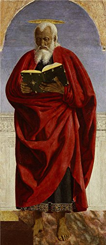 Oil Painting 'Piero Della Francesca - St. John The Evangelist, C. 1454-69' 8 x 18 inch / 20 x 47 cm , on High Definition HD canvas prints is for Gifts And Basement, Game Room And Home Theater decor