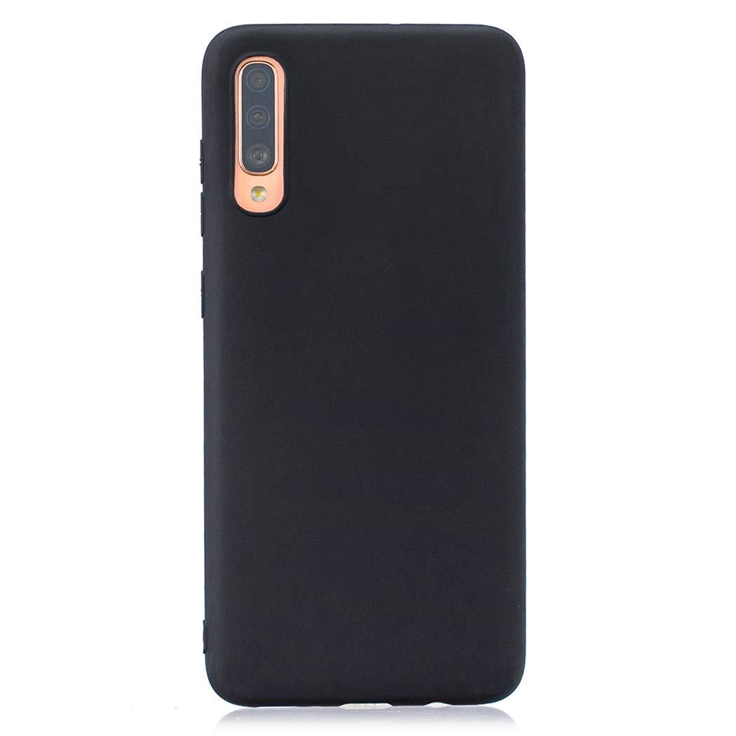 EuCase 5X Funda para Samsung A50 Silicona Carcasa Samsung A50 Antigolpes Suave TPU Flexible Ultra Delgada Goma Cubierta Protector Bumper Case para Caja Tapa Carcasa Negro