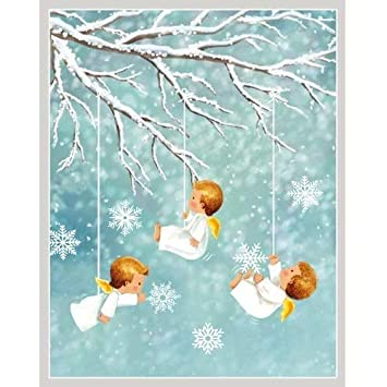 Angels Christmas Cards.Angels In Snow Christmas Card Box 16 Cards 3 75 X 4 75
