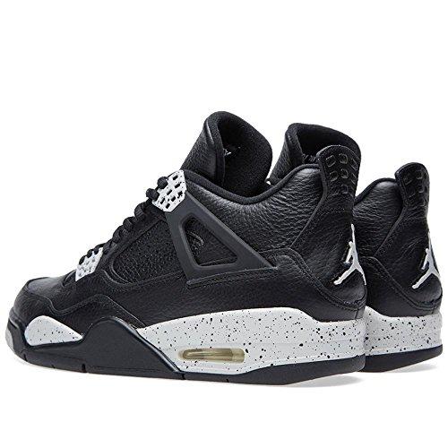 Nike Air Jordan 4 Retro Ls Oreo Zwart / Tech Grijs Lederen Basketbalschoenen Zwart / Tech Grijs