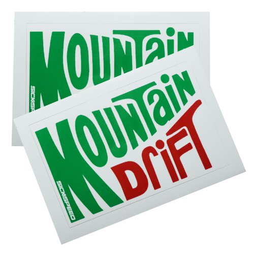 2Pc Mountain Drift Dew Soda Vinyl Sticker Decal Stickerbomb Bomb Funny Spoof for Honda Prelude 96 Honda Prelude Drift
