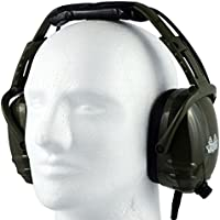 Race Day Electronics RDE-990 Over-Ear Noise Reduction Earmuff / Headphones, Dark Green