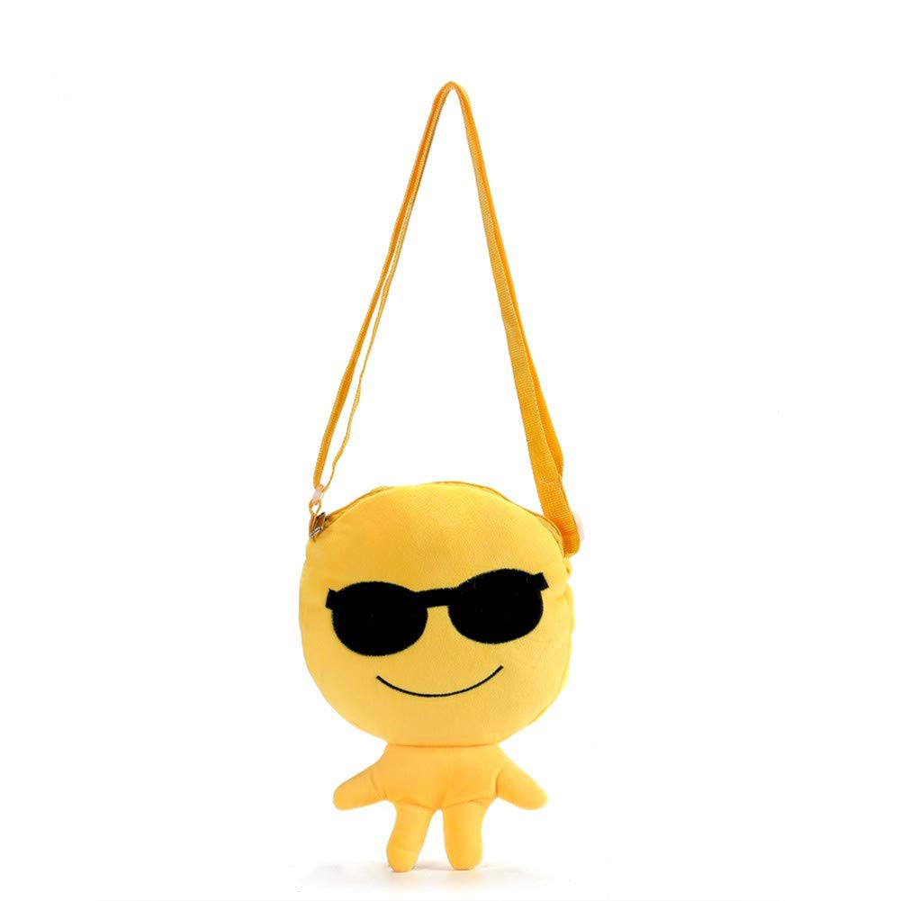 Slendima Lovely Emoticon Plush Children Shoulder Bag,Baby Boy Girl School Cross Body Bag,Kids Gift - 6 Types is Available