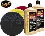 Meguiars 7 in Rotary Foam Polisher Pad Essentials Combo Kit Plus