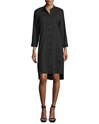 1cf85c90cb Image Unavailable. Image not available for. Color  Eileen Fisher Black  Organic Linen ...
