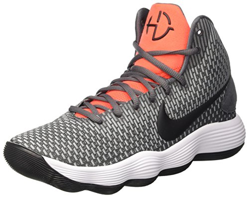 NIKE Men's Hyperdunk 2017 Basketball Shoe Dark Grey/Black/Bright Crimson Size 10.5 M US