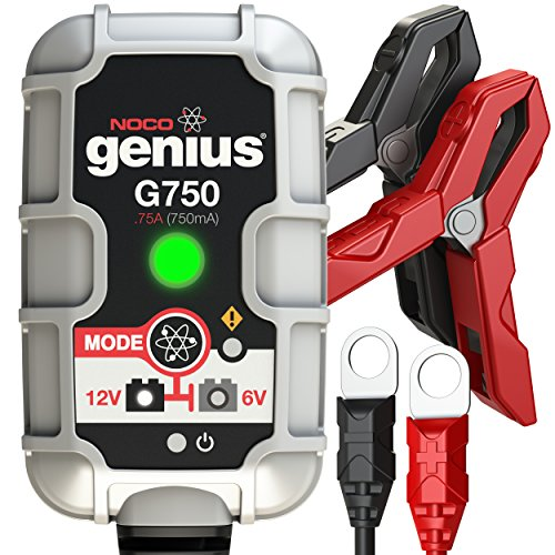 NOCO Genius G750 6V/12V .75A UltraSafe Smart Battery - Silver International Ray