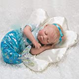 Paradise Galleries Mystic Mermaid Doll, 20 inch Reborn Baby Girl, Blonde Mohair & Actual Tail w/ Doll Armature, 4-Piece Set