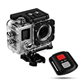 Leucothea Full HD 1080P Action Camera Ultra HD Camcorder WiFi Waterproof Camera 170° Wide-Angle Touch Screen Camera with Remote Control for Cycling Swimming Climbing Diving