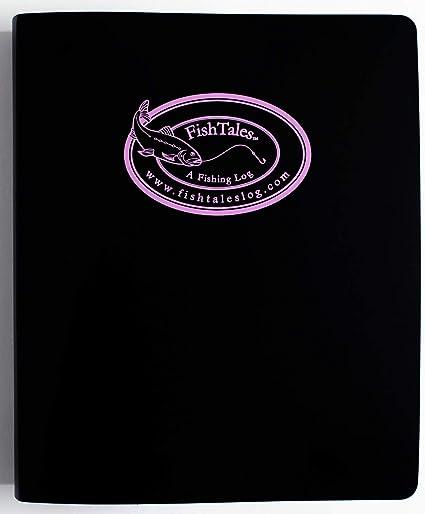 amazon com fishtales guides fishing log book pink logo poly 3 ring sports outdoors amazon com
