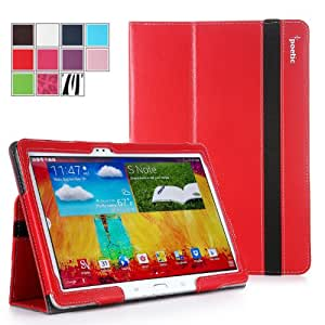 Poetic Slimbook Case for Samsung Galaxy Note 10.1 2014 Edition Tablet Red (3 Year Manufacturer Warranty From Poetic)