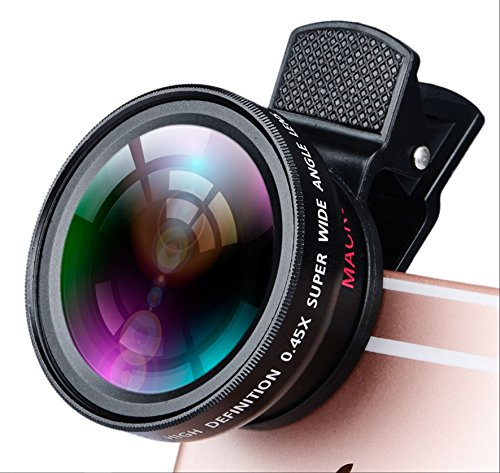 HD 2 in 1 Wide Angle & Macro Lens for Your iPhone and Samsung Galaxy – 12.5x Macro Lens, 0.45x Wide Angle by Pinnacle Systems