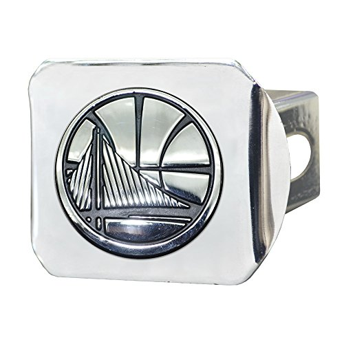 """FANMATS 20407 Team Color 3.4""""x4"""" NBA - Golden State Warriors Hitch Cover"""