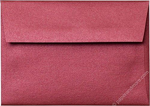 4 Bar Card Size - A-1 RSVP (4 Bar) Crimson Red Metallic Envelopes (Straight Flap, 3 5/8