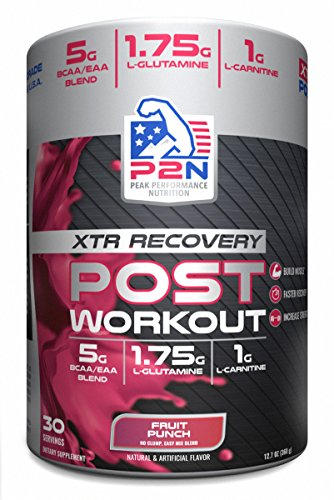 P2N Peak Performance Nutrition P2N Rescue Post-Workout, Fruit Punch, 371 Gram (Peak Recovery)