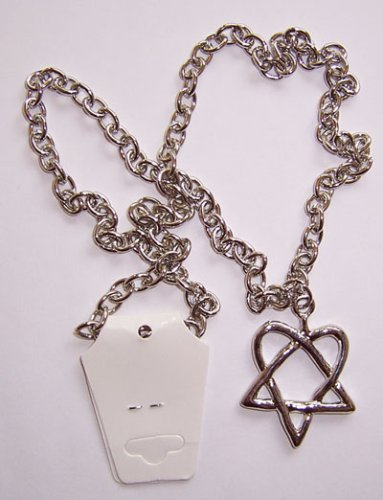 Amazon him bam margera heartagram silver charm necklace chain him bam margera heartagram silver charm necklace chain aloadofball Choice Image