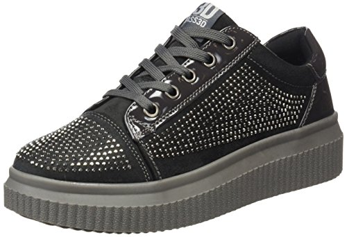 Grey Gris 041378 Trainers bass3d Gris Women's Black Inzp8Ixq4X