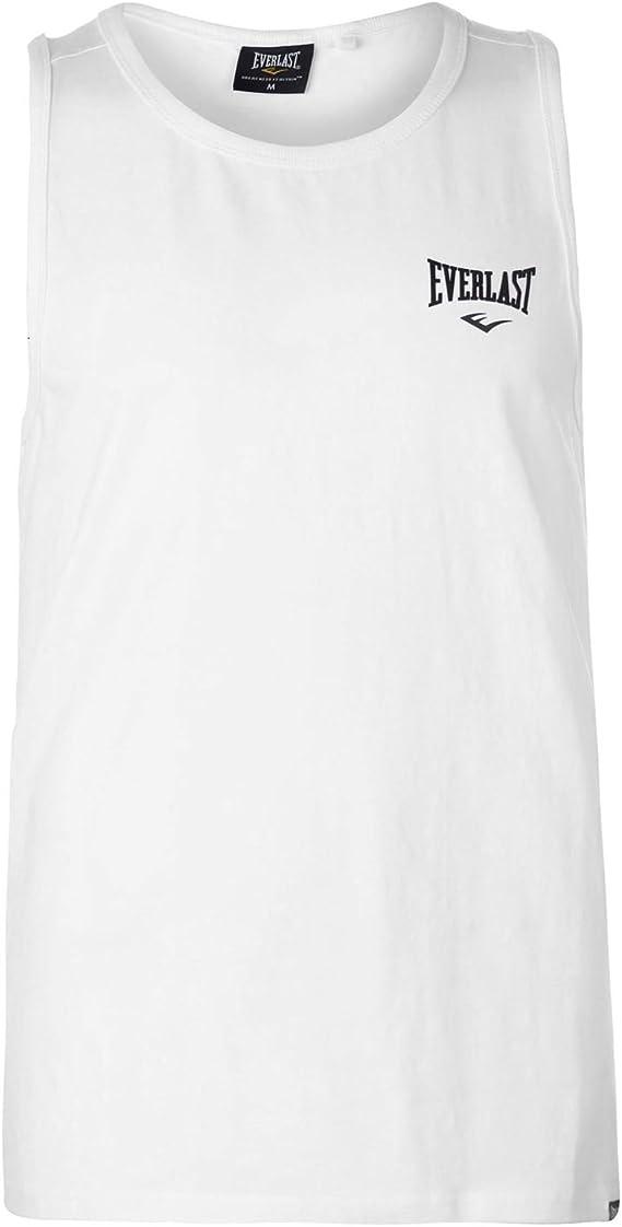 Everlast - Camiseta de Tirantes - Sin Mangas - para Hombre Bianco ...