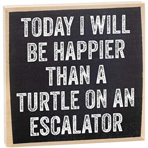 Make Em Laugh Today Turtle Wooden Sign