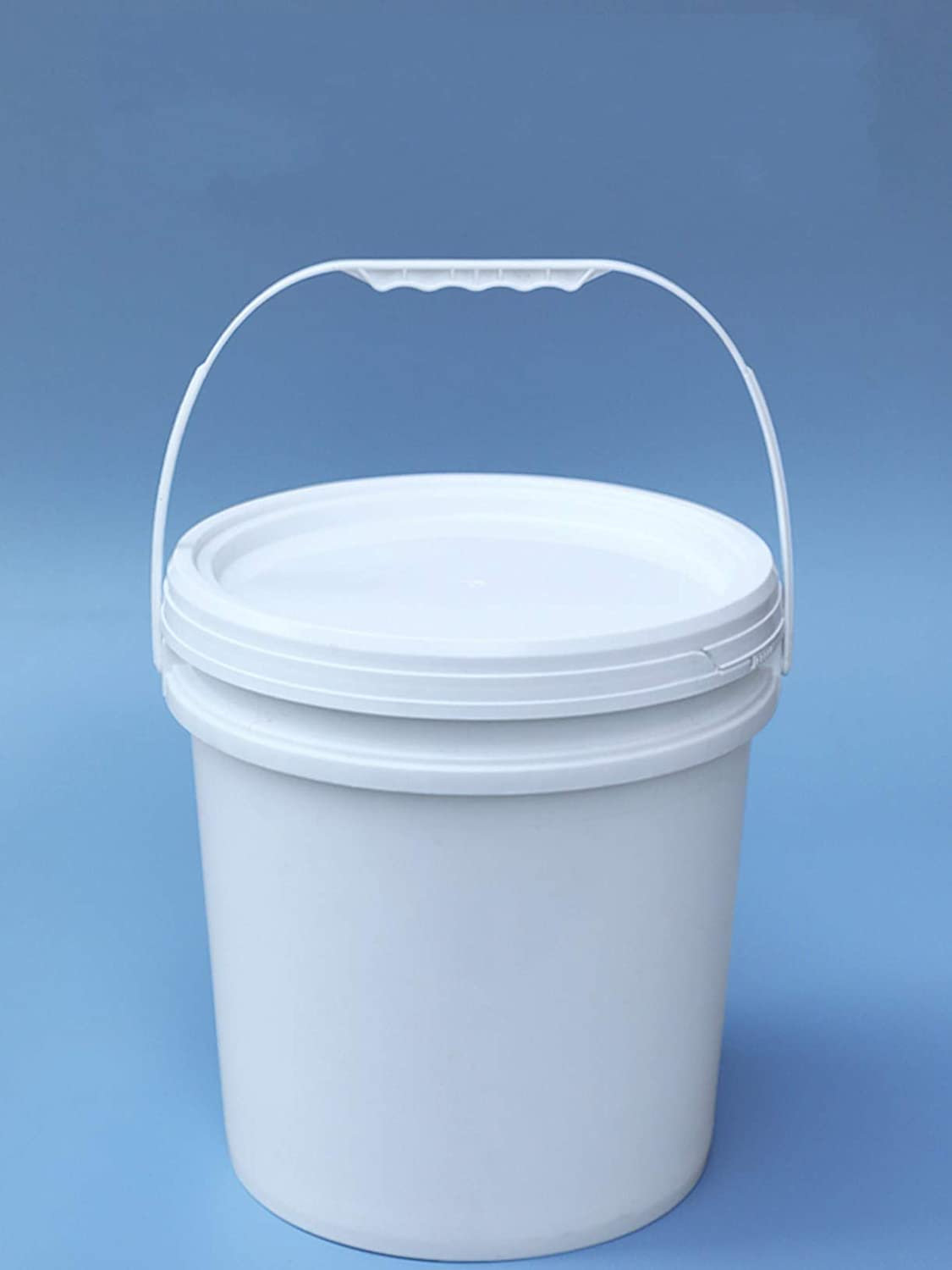WellieSTR 2 Pack (5L White) Plastic Bucket with Lid and Handle Food Grade Container Leakproof,Food Storage Container
