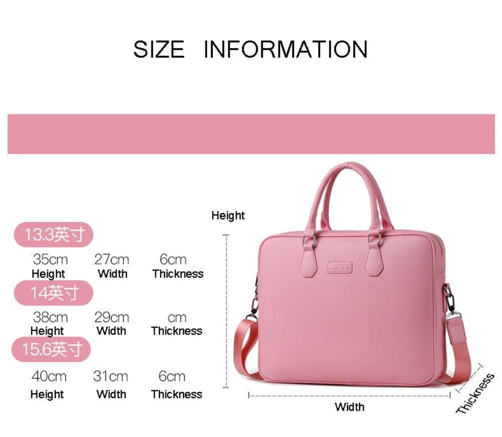 ecba2e4c17 Sacoches Pink Sacs pour ordinateur portable HotYou Porte Documents Sacoche  15.6 Sacoche Ordinateur Besace Cuir Synthétique ...