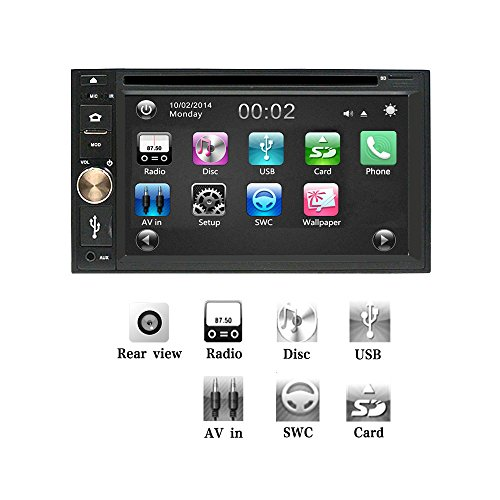 (Ezonetronics Car DVD CD MP3 Player AM/FM Car Stereo Radio Hands Free USB/SD Universal Player TFT capacitive Touch Screen Support Back Camera Input and Steering Wheel Control DV0354)