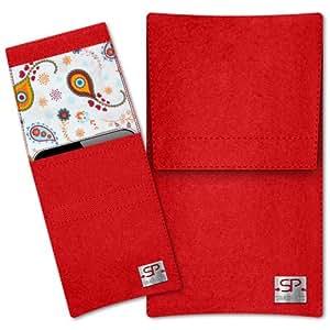 SIMON PIKE Cáscara Funda de móvil Sidney 10 rojo Nokia Lumia 830 Fieltro de lana
