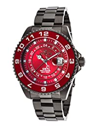 Invicta Pro Diver Grand Ocean GMT Red Dial Gunmetal Ion-plated Mens Watch 18242