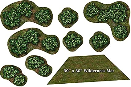 picture regarding 2d Printable Terrain identified as : Experience TILES: WILDERNESS MAT Novice Mounted 2D