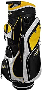 Ray Cook Golf Cart Bag, Black/Yellow/White