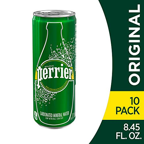 (Perrier Carbonated Mineral Water, 8.45 fl oz. Slim Cans (10 Count))