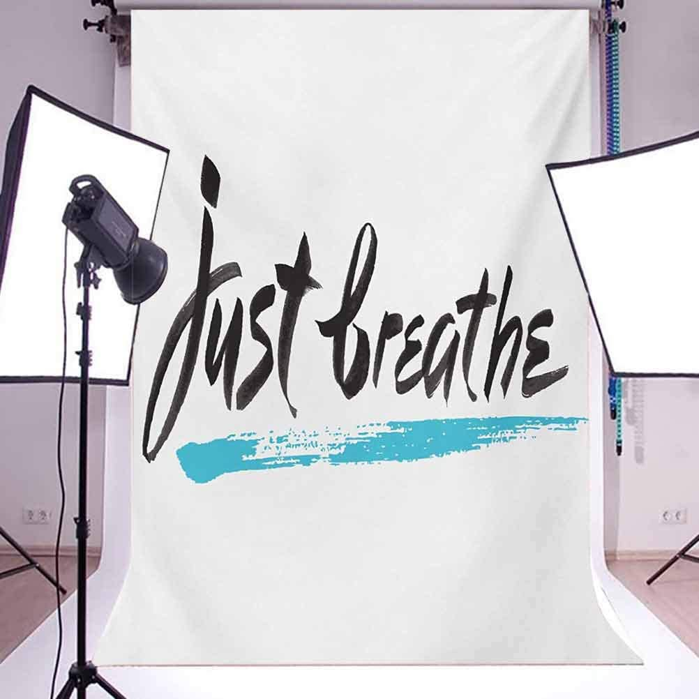 10x15 FT Backdrop Photographers,Inspirational Message About Overcoming Panic and Stressful Mood Background for Kid Baby Boy Girl Artistic Portrait Photo Shoot Studio Props Video Drape Vinyl