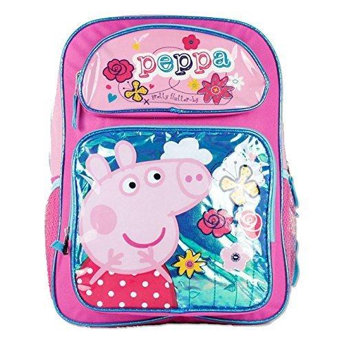 (Peppa Pig Girls 16' School Book Backpack Bag - Pretty)