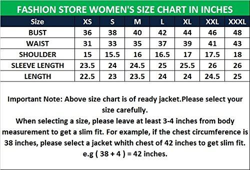 FS Lambskin Leather Women's Bomber Biker Jacket Small Brown by Fashion Store (Image #4)
