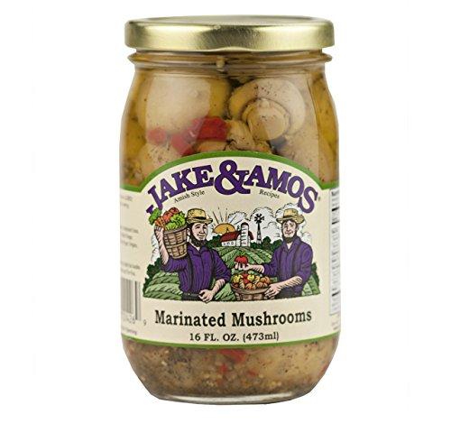 (Jake & Amos Marinated Mushrooms, 16 Oz. Jar (Pack of 2))