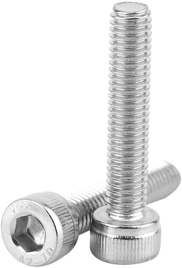 Yanmis Nuts and Bolts,M3-M8 Stainless Steel SS304 Hex Socket Cap Head Screws with Hex Nut Washers Assortment for Home and Office Appliance,Communication Equipment M3 300pcs