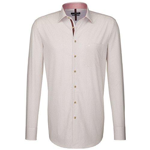 Seidensticker Herren Langarm Hemd Splendesto Regular Fit mehrfarbig strukturiert mit Patch 187926.45