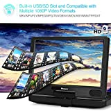 NAVISKAUTO 12 inch Portable Blu Ray DVD Player with Rechargeable Battery Support HDMI Out MP4 1080P Dolby Audio Sync Screen USB SD