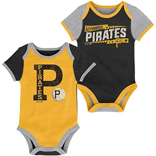 MLB Newborn Infants Baseball Star 2 Piece Bodysuit Creeper Set (6/9 Months, Pittsburgh Pirates)]()