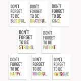 Don't Forget Mini Collection 11x14 Inch Print Wall Art Prints, Typography, Kid's Wall Art Print, Kid's Room Decor, Gender Neutral, Motivational Word Art