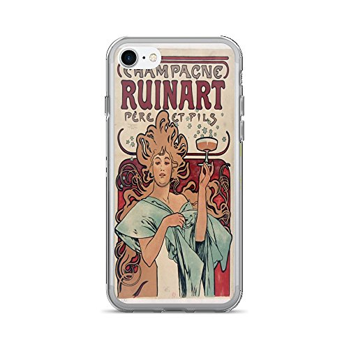 vintage-poster-champagne-ruinart-iphone-7-case