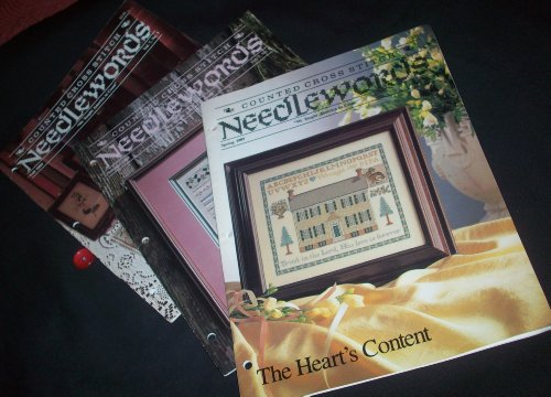 Counted Cross Stitch Needlewords - 3 Issues - Spring, Summer and Fall, 1989
