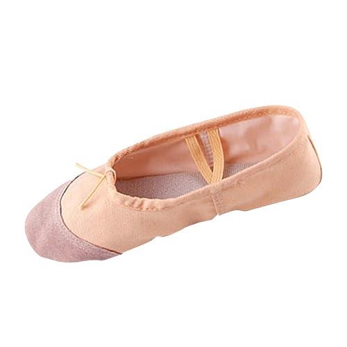 77ef3e85246f6 Daytwork Scarpe per Bambine e Ragazze Ballerine - Balletto Piatto Tela  Danza Balletti Ginnastica Yoga Pantofole
